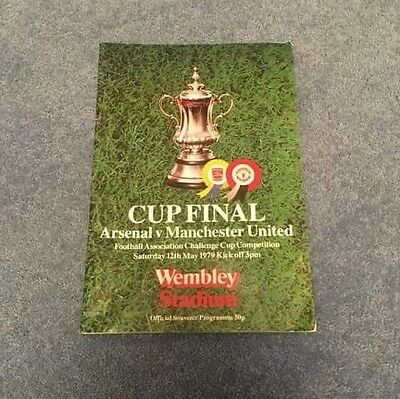 Arsenal v Manchester United 1979 Challenge Cup Final Football Programme