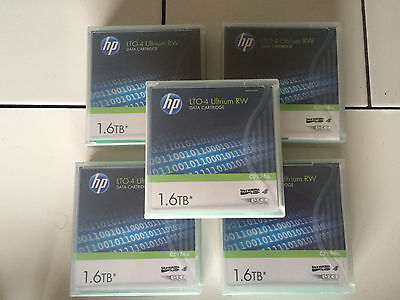 5x HP LTO4 tapes (4 new, 1 used)
