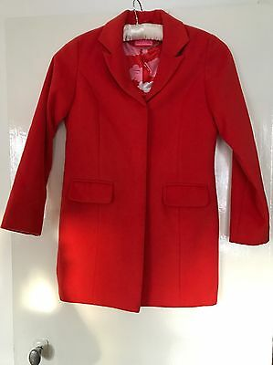 Next Gorgeous Coral Pink Coat/jacket 11-12 Years