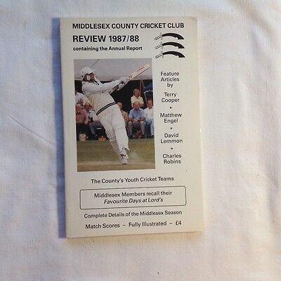 Middlesex County Cricket Club Review 1987/88