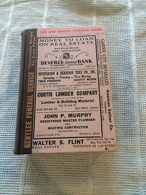 RARE VTG 1948 BEVERLY Manchester Essex MA TOWN DIRECTORY Phone BOOK GUIDE ADS