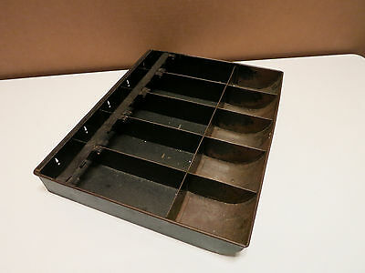 Vintage Metal Cash Register Insert Tray Money Drawer - Used with Lots Of Patina!