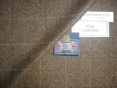 100% CASHMERE JACKETING/SUITING FABRIC MADE IN SCOTLAND – 2.0 m.