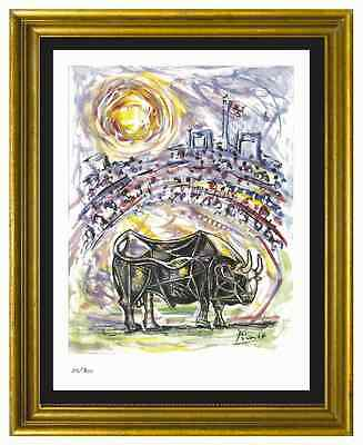 "Pablo Picasso Signed/Hand-Numbered Ltd Ed ""Bull in Arena"" Litho Print (unframed)"