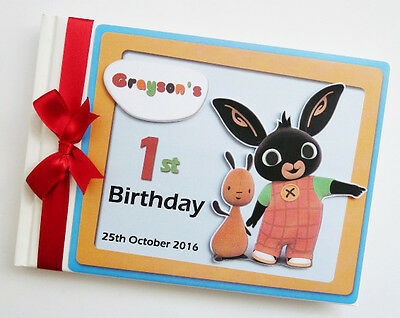 Bing Bunny Boy/girl First/1St Birthday Guest Book - Any Design