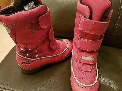 Girls Clarks Snow Boots Size 7