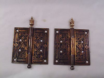 "Antique Door Hinges Corbin 4 1/2"" x 4 1/2""  #586"