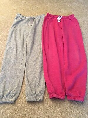 2 Pairs Of Joggers Age 12-13 Yrs Pink And Light Grey