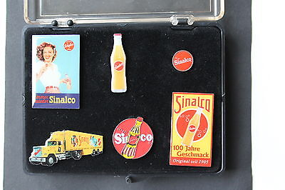 Pin Set Sinalco, 6 Pins in Kunststoff Box