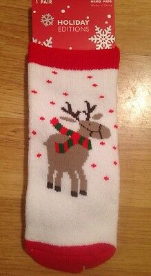 Christmas Reindeer Socks: 4- 6 Yrs