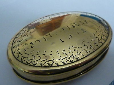 """Antique Miners Brass Snuff box engraved """" John Poutley 1901 """""""