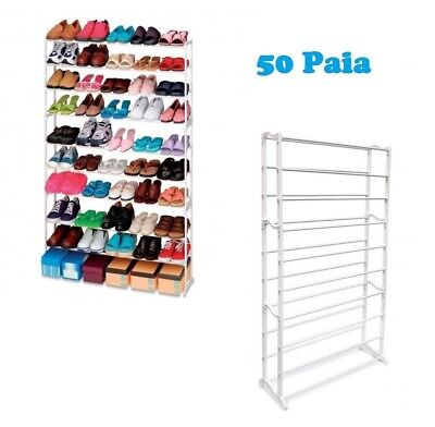 Scarpiera 50 paia di scarpe salvaspazio portascarpe Shoes Rack