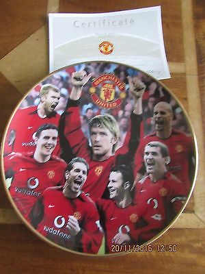 Manchester United Danbury Mint Plate  Stars Of 2003