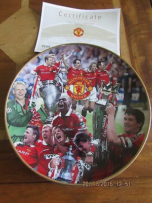 Manchester United Danbury Mint Plate Treble Winners 1998-1999