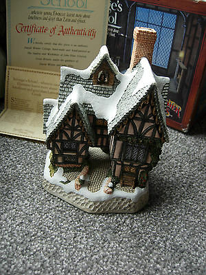 David Winter Cottages Scrooge's School 1992 Boxed & COA