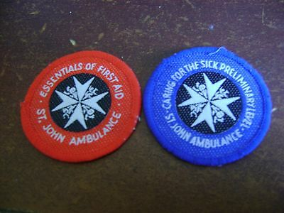 st john ambulance first aid & caring for the sick badge