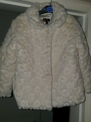 girls winter fur coat 4-5 minni club