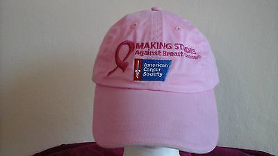Breast Cancer American Cancer Society Making Strides Hat--Display Model Last 1
