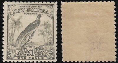 1932 NEW GUINEA - SG 189 £1 olive-grey MLH/*