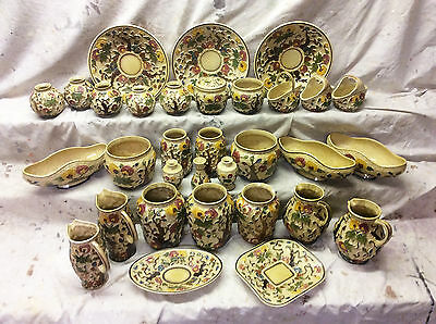 Vintage H. J. Wood Staffordshire Indian Tree 32 Piece Collection
