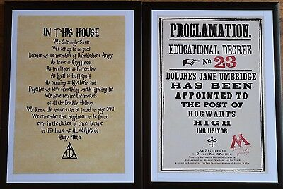 Harry Potter Framed A4 Pictures (Pair)