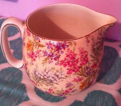 Lord Nelson Ware Small Pitcher Lavender Flowers