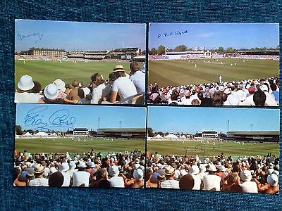Great Cricketer Signed Postcards Signed Postcards - Player Home Grounds