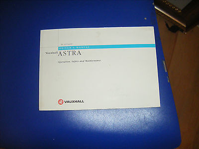 vauxhall astra owners handbook