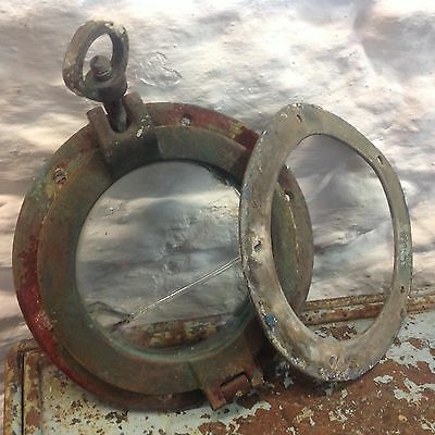 Vintage Solid Brass Porthole With Glass & Working Bolt Knut