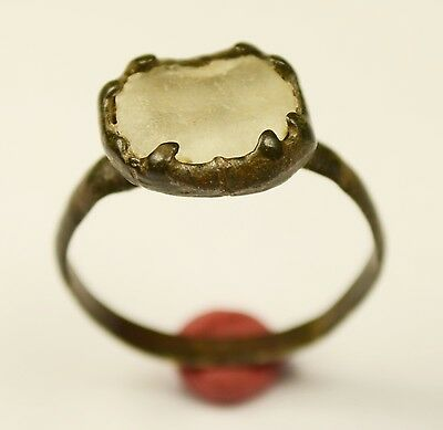 Scarce Medieval Ring With White Stone - Fantastic Wearable Item