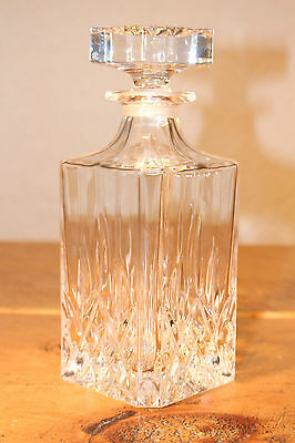 Square Cut Glass Decanter With Square Stopper
