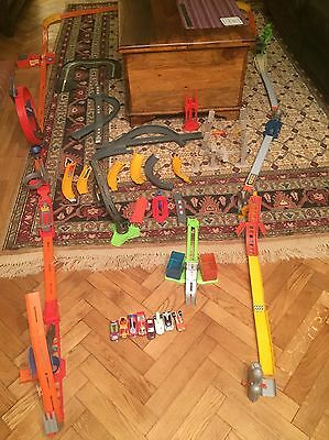 Massive Hot Wheels Track And Trick Bundle With Eight Cars