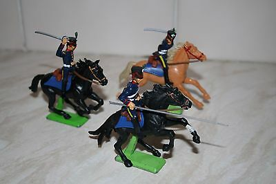 Britains Deetail horses + DSG Napoleonic French Lancers (Mint) Waterloo. 2