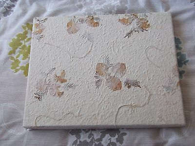 Photo Album Flowered Cover -  Comes Boxed - New Never Used
