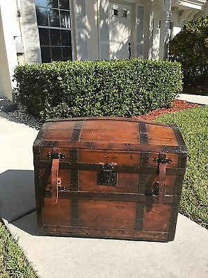 Old Antique Steamer Trunk