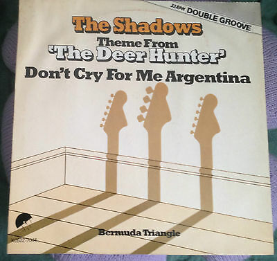 """The Shadows - RARE Double Groove 12"""" Deer Hunter / Don't Cry For Me Argentina"""