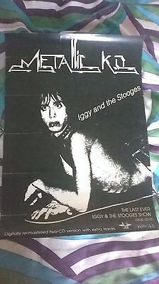 IGGY AND THE STOOGES - metallic KO promo poster ! IGGY POP/MC5