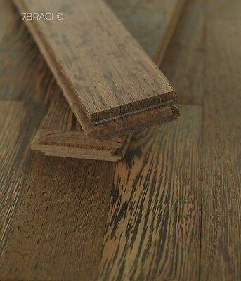 Rare - Solid Wenge Wood Parquet Flooring Brown (Ebony Altern.) Unfinished S22HW1