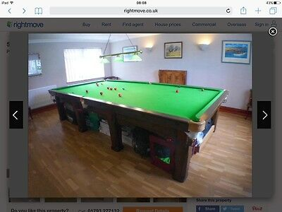 Antique Riley Imperial Full Size Snooker Table