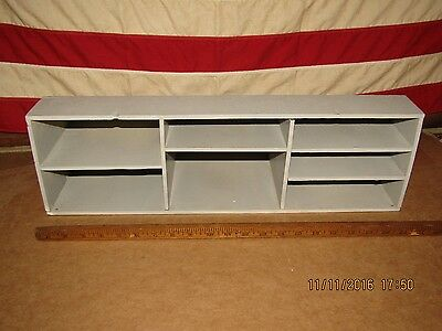 Antique ROLL TOP DESK CUBBY COMPARTMENT Pigeon Hole WOOD LETTER