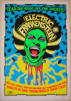 2005 Electric Frankenstein - Concert Poster by Stainboy