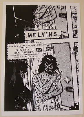 2004 The Melvins - NYC Silkscreen Concert Poster s/n by Tooth