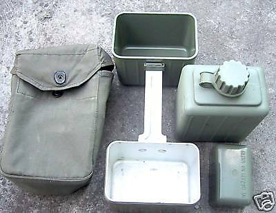 Serbia / Yugoslavia Jna Army Combat Mess Tin + Water Bottle In Canvas Bag