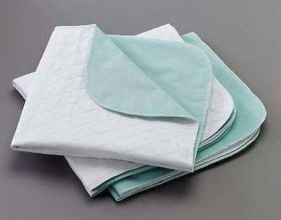 """2 SIZE Washable Reusable Bed Pads Waterproof   Size   24""""x34"""" & 17""""x24"""""""