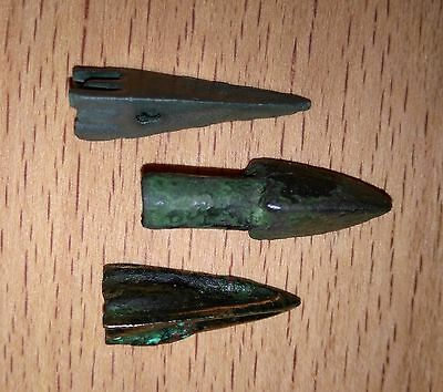 3 Pcs of bronze arrowheads Scythian period   III-VIII B.C.