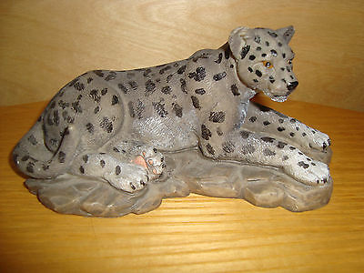 PANTHER Leopard Wild Animal Figurine, 16cm long