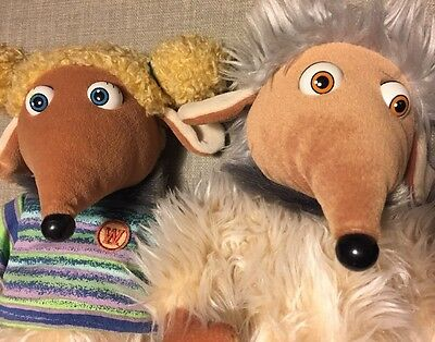 Rare two Wombles soft toys