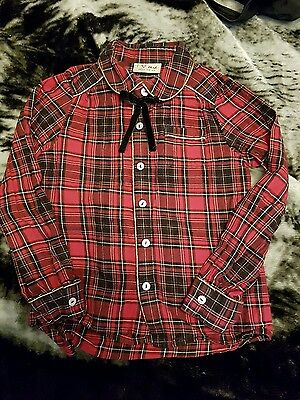 Girls Tartan Shirt from Next - age 4-5 excellent condition