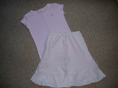 Lovely Girls Pink Gap Top and Skirt Age 10-11 Years.