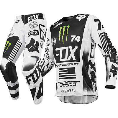 Fox Racing Adult Mens Se Monster Energy Pro Circuit Gear Combo Jersey + Pants Mx